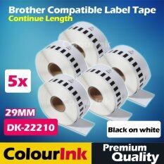 Brother Compatible Label Tape Dk-22210 X5pcs (29mm) Ql550/570/500/720 By Colourink.