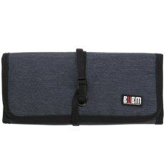 Bubm Spring Rolls Folding Carry Case M Size For Digital Storage Bag (blue) By Teamtop.
