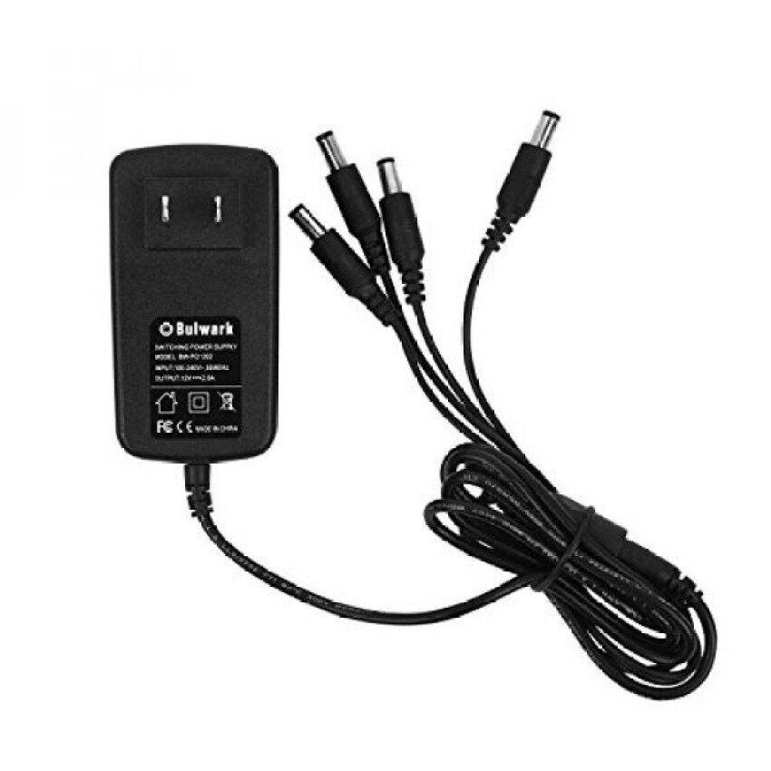 Bulwark 12 V 2A 100 V-240 V AC Ke DC Power Supply dengan 4-Way Power Kabel Cabang AREA UMUM Analog/AHD/IP/HD TVI Kamera Keamanan, DVR/NVR/AHD/HD TVI Sistem Keamanan-Intl