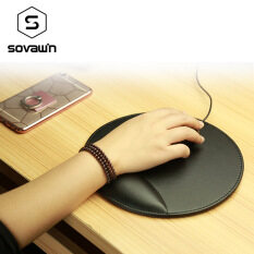 Business 3D Leather Computer Mouse Pad with Wrist Rest Ergonomic Office Soft Sponge Wrist Support Mat mousepad for PC Malaysia