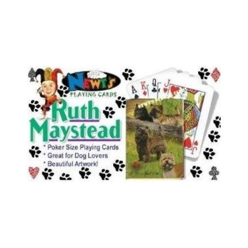 Cairn Terriers Dog Playing Cards by Ruth Maystead - intl
