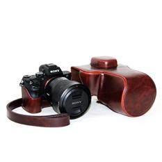 Tas Wadah Kamera untuk Alpha A7RII A7R Mark2 A7II PU Kulit Penutup Tas Kamera Kantong