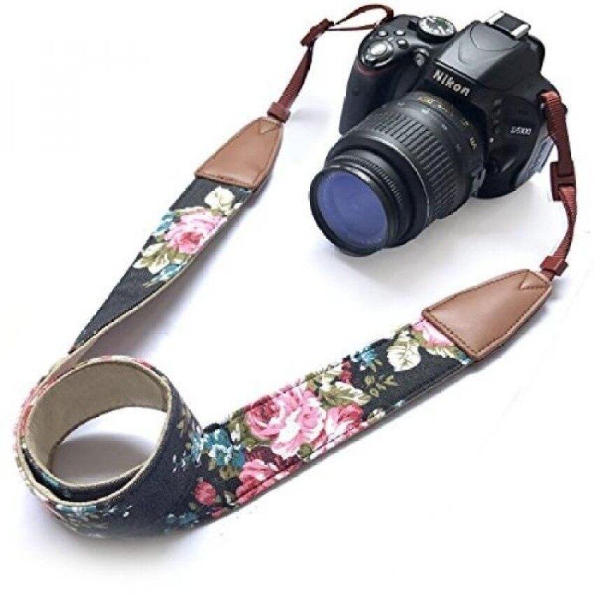 Kamera Bahu Leher Sabuk Tali, alled Cowhide Antik Cetak Softleather Colorful Tali Kamera untuk Wanita/Pria untuk DS/S/Nikon/Canon /Sony/OLYMPUS/Samsung/Pentax Dll/Olympus Hitam-Internasional