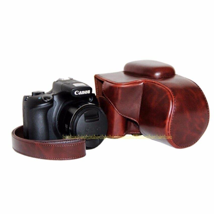 Kamera PU Kulit Kasus Tas Sarung untuk Canon PowerShot SX60HS Withstrap Sheng HOTT 578-Internasional