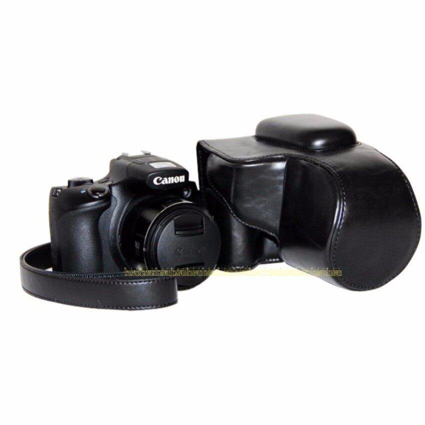 Kamera PU Kulit Kasus Tas Sarung untuk Canon PowerShot SX60HS Withstrap .