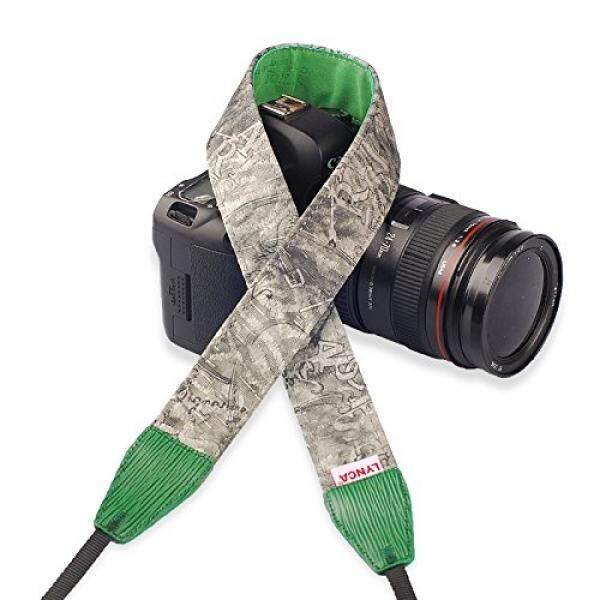 Tali Kamera untuk DSLR, imz��-Keren Pola Series-Kulit dan Katun Bahu Leher Strap Pergelangan Tangan Pegangan Tangan untuk Nikon Canon Sony Pentax Olympus Panasonic Kamera SLR DSLR-Hijau -Intl