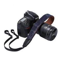 Camera Strap Retro Vintage VNS Soft Safety Tether Multi-color Neck Wrist Strap for Canon Nikon Olympus Fuji Pentax Panasonic Sony DSLR SLR Camera (Denim ...