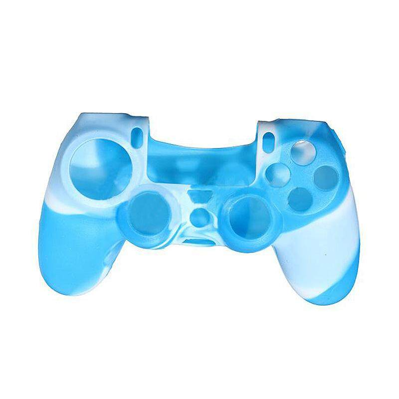 Camouflage Protective Silicone Case Skin Cover For Ps4 Controller Camo Mod HOT (Blue/White) - intl