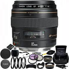 Canon EF 85mm f/1.8 USM Lens Bundle with Manufacturer Accessories & Accessory Kit for EOS 7D Mark II, 7D, 80D, 70D, 60D, 50D, 40D, 30D, 20D, Rebel T6s, T6i, T5i, T4i, SL1, T3i, T6, T5, T3