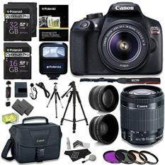 Canon EOS Rebel T6 Digital SLR Camera Kit + EF-S 18-55mm f/3.5-5.6 IS II Lens + Pro .58x & 2.2x Lenses + Lexar 48GB Memory + 57