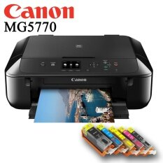 Canon Pixma MG5770 All in 1 Printer+770-771 Refillable Ink Cartridge with Ink SET similar to Epson L485