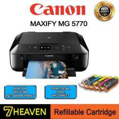 Canon Pixma MG5770 All in 1 Printer+770-771 Refillable Ink Cartridge with Ink SET similar to Brother J105