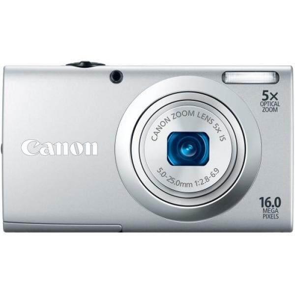 Canon PowerShot A2400 16.0 Kamera Digital MP dengan 5x Gambar Optik Stabil Zoom 28 Mm Lensa Wide-Angle dengan 720 P Penuh Rekaman Video HD dan 2.7-Inch LCD Panel Sentuh (Perak) (Model Lama)-Intl