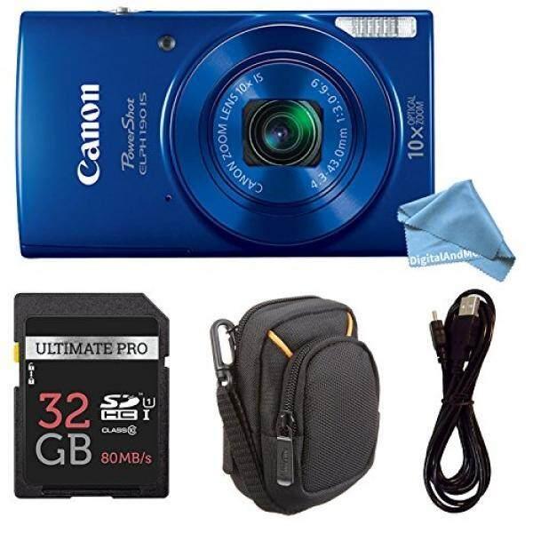 Canon PowerShot Elph 190 Digital Kamera Lengkap Bundel dengan 10x Optical Zoom dan Stabilisasi Gambar Wi-fi & Pengaktif NFC + elph 190 Case + Kartu SD + Kabel USB-Intl