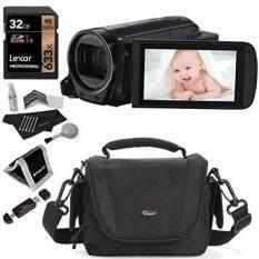 Canon VIXIA HF R700 Camcorder, Lexar 32GB Memory Card, Polaroid Wallet, Lowepro Edit 110 Camcorder Bag, Ritz Gear Card Reader and Camera Cleaning Kit