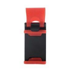 Dudukan Klip To Kemudi untuk Sepeda atau untuk Review Mobil untuk IPhone Ponsel Samsung GPS (merah)