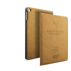 Case for IPad 234 Flip Leather Smart Case Automatic Sleep Awake Answer Cover Carving Deer Shockproof