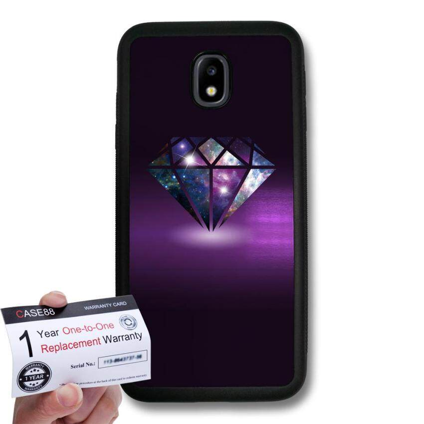 CASE88 Snap-on Hard Case with Black TPU Bumper & Warranty Card for [Samsung