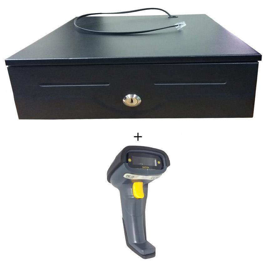 Cash Drawer 240 + Wired Barcode Scanner Ps 1695-Neutral