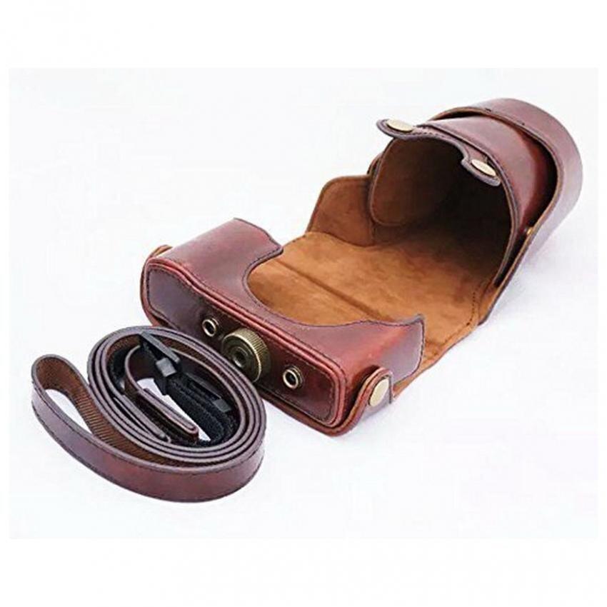 Gaya kasual kamera PU kulit, Tas keras untuk Nikon J1 J2 J3 J4 S1camera kasus, Pengiriman gratis (kopi)