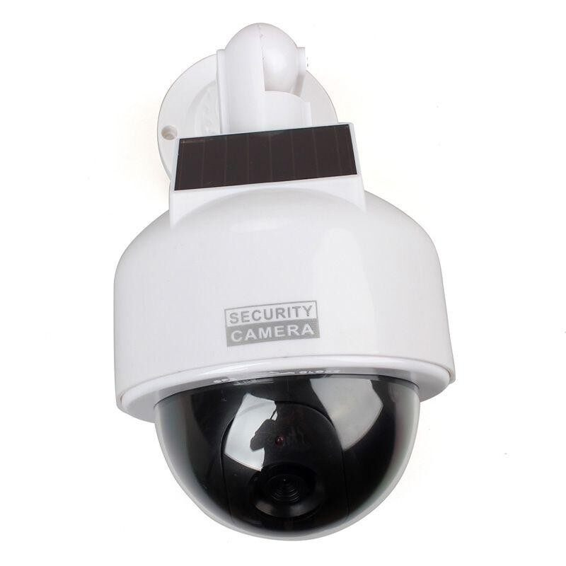 CCTV Security Camera Dome Fake Surveillance Flashing LED Dummy Solar Powered NEW