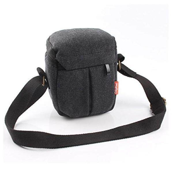 CEARI DSLR Camera Water Resistant Canvas Camera Case Bag for Nikon Coolpix L31 L32 L340 L610 L810 L830 L840 P530 Digital SLR Camera - Black - intl