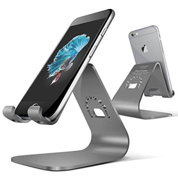 Cell Phone Stand, iPhone Stand Dock Holder for iPhone X / 8 / 7 / 6s Plus / 6 / 5s / 5 / SE - Space Grey - intl
