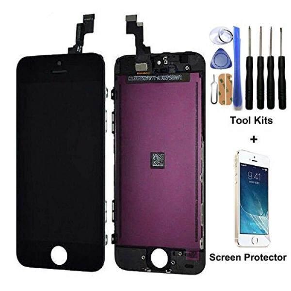 Handphone untuk iPhone 5 S Penggantian Layar LCD Baru Hitam Tampilan Kaca Sentuh Layar Digitizer Assembly