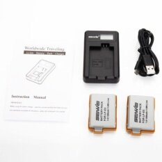CHEER 2 x LP-E5 1600mAh Battery LCD USB Dual Charger Kit For Canon Digital Rebel Xsi