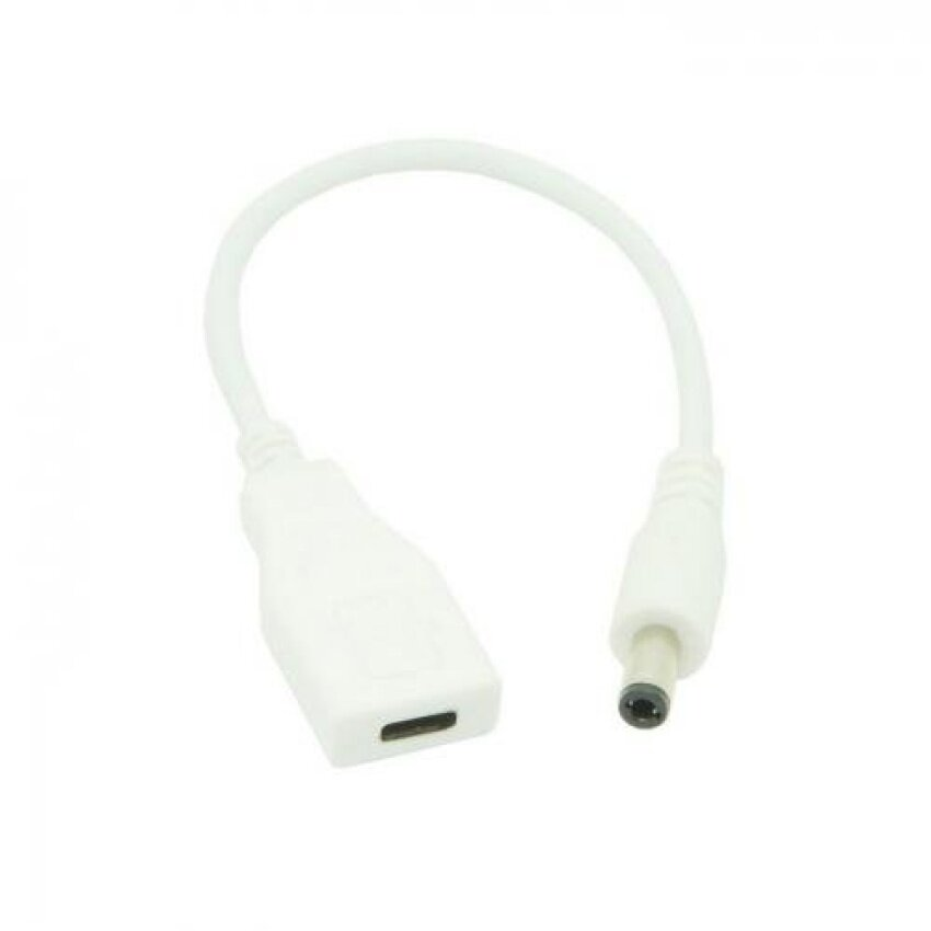 CHENYANG White USB 3.1 Type C USB-C Female to DC 5.5 2.1mm PowerPlug Extension Charge Cable for Laptop Macbook KXSg2265