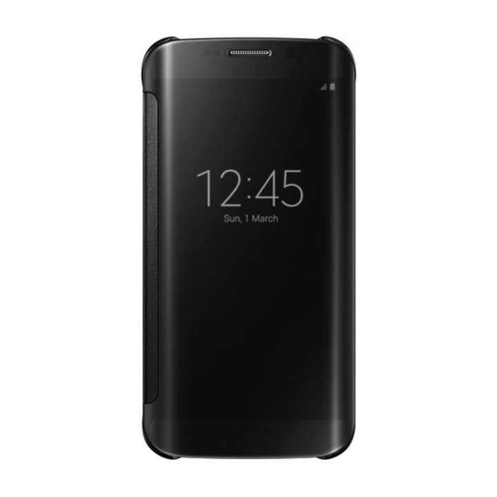 Clear View Cover Case For Samsung Galaxy J7 Prime Black