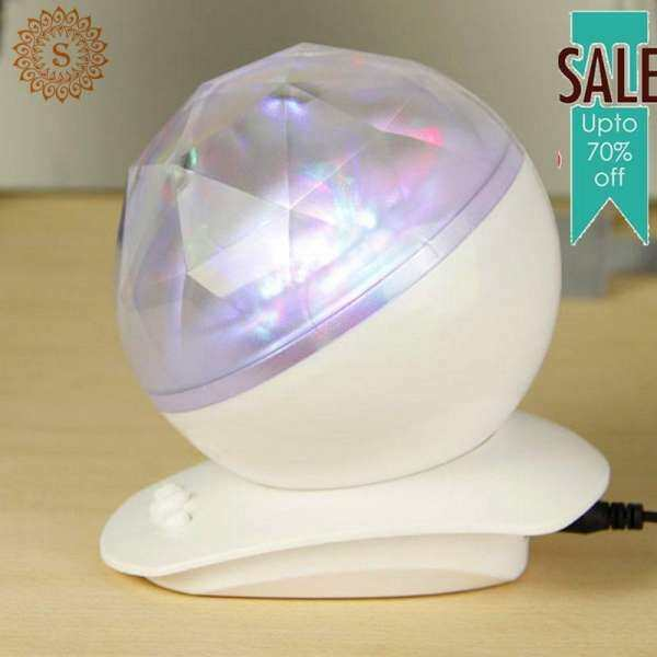 Ruisen Clearance Sale! Hot Sell Tech Accessories Aurora Colorful Night Light Home Room Desk Projector L Music Speaker Decor