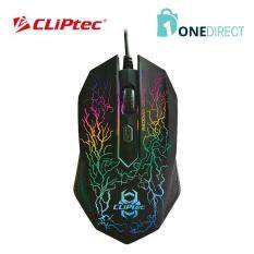 CLiPtec STORM 2400dpi Illuminated Gaming Mouse-RGS501 (Black) Malaysia