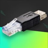 RJ45 Male to USB A Female  LAN Network Connector