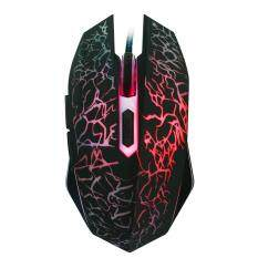 Colorful Flashing 2400DPI Optical Adjustable 6 Button Wired Gaming Mouse for Laptop PC Malaysia