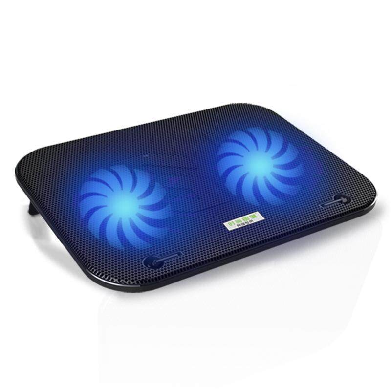 COOLCOLD F3 Mute Dual Fans Laptop Cooling Pad with Two USB Hubs - Black Malaysia