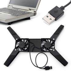 Cooling Fan Pad With 2 Fan for Laptop Notebook USB Portable Folding Cool Cooler Malaysia