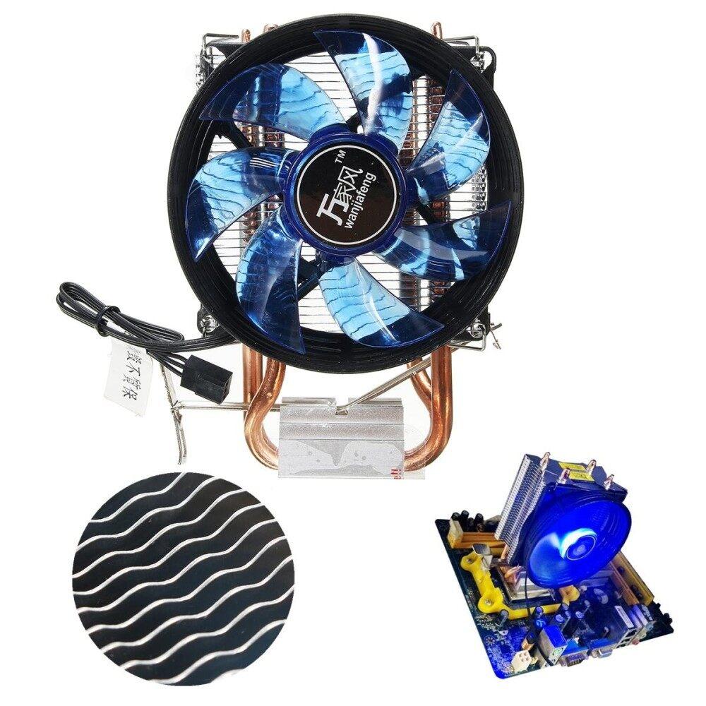 Core LED CPU Hening Kipas Pendingin Heatsink untuk Intel Socket LGA1156/1155/775 Amd AM3-Intl