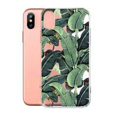 cover fr apple iphone x ijia transparente grne bananenbltter tpu weich silikon stokasten hlle handyhlle - Handyhllen Muster
