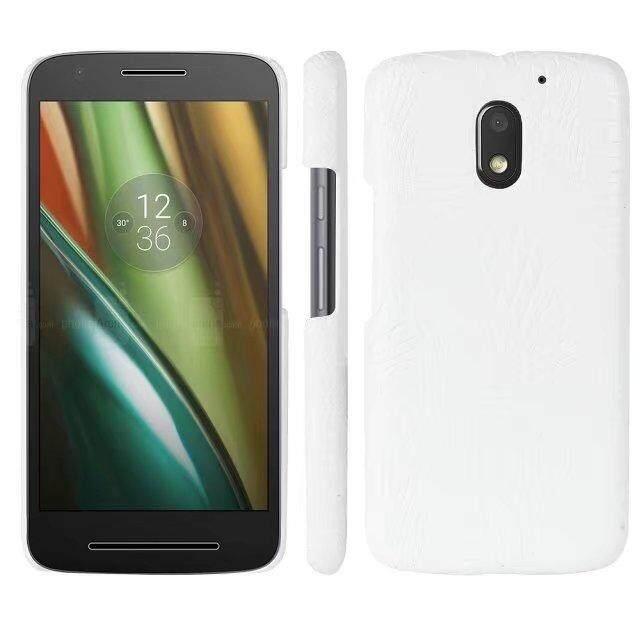 untuk Motorola MOTO E3 Power Buaya PU Kulit Kulit Hard Plastic Back Cover Phone Case Tas