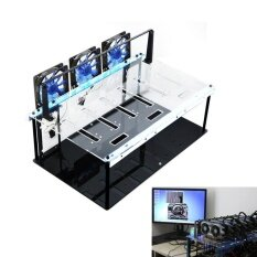 Crypto Coin Open Air Mining Frame Rig Case Set for 7 GPU ETH BTC Ethereum Malaysia