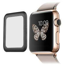 cushan Apple Watch 42mm Screen Protector Series 2, 0.2mm Ultra-thin HD Clear Tempered Glass Screen Protector, Full Coverage, Anti-bubbles, Scratch Resistant (Gold)