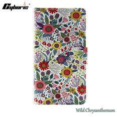 Cyboris Casual Colorful Paint Wild Chrysanthemum Leather Flip Case Cover for Samsung Galaxy A3 2017 J1 2016 J2 PRIME J3 PRIME J5 PRIME J5 2016 J7 PRIME S5 S5 mini S6 S6 EDGE S6 EDGE PLUS S7 S7 EDGE