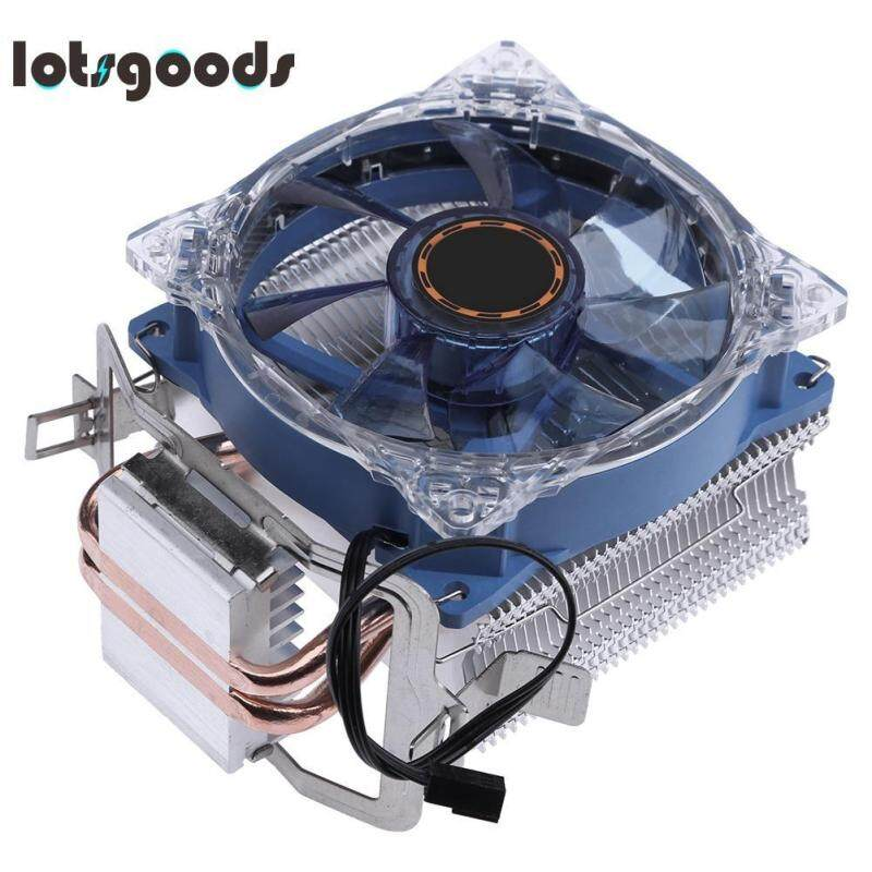 Bảng giá DC 12V 95W 3 Pin CPU Fan Radiator Pure Copper Double Heat Pipe Tube Fan Cooling System for Intel AMD - intl Phong Vũ