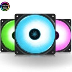 Deepcool 3pcs 12v Aura Sync Rgb 12cm Pwm Fan Rf 120m Rgb For Computer Case By Hotonix Technology Corporations Store.