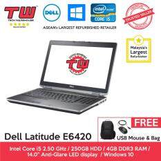 Dell Latitude E6420 Core i5 / 4GB RAM / 250GB HDD / Windows 10 home Laptop / 3 Month Warranty (Factory Refurbished) Malaysia