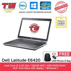 Dell Latitude E6420 Core i5 / 4GB RAM / 250GB HDD / Windows 7 Laptop / 6 Month Warranty (Factory Refurbished) Malaysia