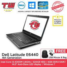 Dell Latitude E6440 Core i5 4th Generation / 4GB RAM / 320GB HDD / Windows 7 Laptop / 2 Year Warranty (Factory Refurbished) Malaysia