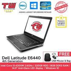 Dell Latitude E6440 Core i5 4th Generation / 8GB RAM / 320GB HDD / Windows 10 Home Laptop / 3 Month Warranty (Factory Refurbished) Malaysia