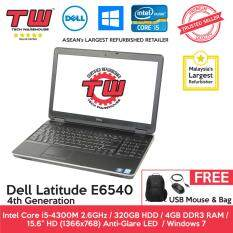 Dell Latitude E6540 Core i5 4th Generation / 4GB RAM / 320GB HDD / Windows 7 Laptop / 3 Month Warranty (Factory Refurbished) Malaysia